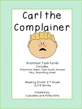 Pronouns- Singular and Plural  Reading Street Grammar Task Cards Grade 2