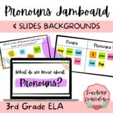 Pronouns Slides and Jamboard Backgrounds - 3rd Grade ELA
