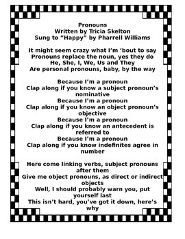 Pronouns Song