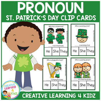 Pronoun Clip Cards: St. Patrick's Day