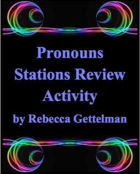 Pronouns Stations Review Task Card Activity