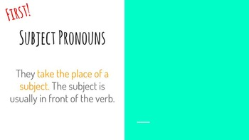 Pronouns- Subject and Object