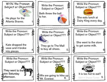 Pronouns: Subject or Object? Singular or Plural?