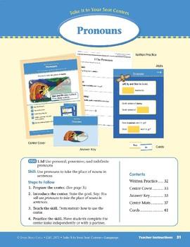 Pronouns (Take It to Your Seat Centers: Common Core Language)