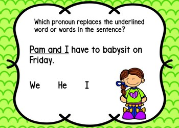 Pronouns Task Cards {BOOM Cards} Set 1