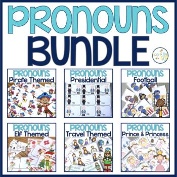 Pronouns:  Task Cards BUNDLE