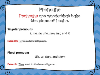 Pronouns Task Cards, SCOOT, and Board Game