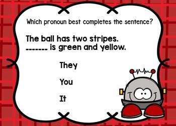 Pronouns Task Cards Set 2 {BOOM Cards}