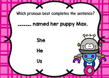 Pronouns BOOM Cards Set 2 {Digital Task Cards}