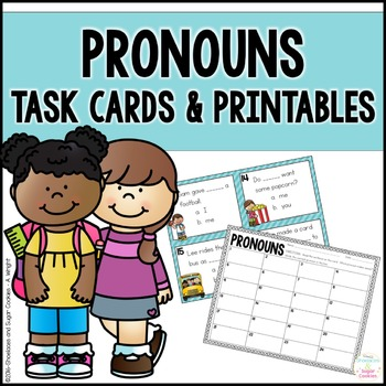 Pronouns Task Cards and Printables