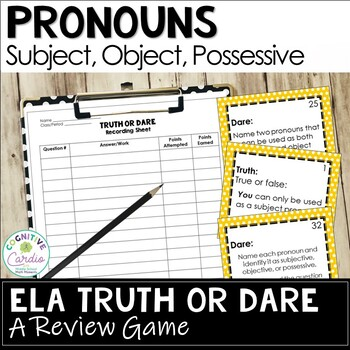 Pronouns Truth or Dare Review Game