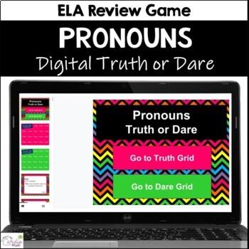 Pronouns Truth or Dare ELA Game for Google Classroom