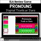 Pronouns Truth or Dare ELA Game for Google Classroom|Slides