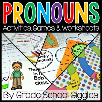 Pronouns Activities, Centers, Games, and Worksheets