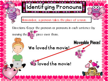 Pronouns Valentine's Day Themed Digital Task Cards: Google Drive