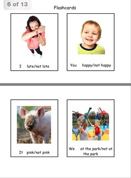 Pronouns & Verbs Am/Is/Are Grammar Worksheets, Game & Flashcards