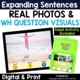 Summer - Pronouns, Verbs, Simple Sentences & Wh Questions, No Print, Teletherapy