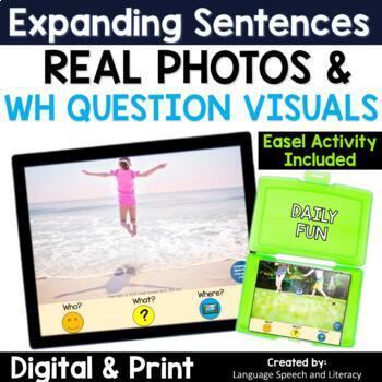 Pronouns, Verbs, Simple Sentences & Wh Questions 2, No Print, Teletherapy