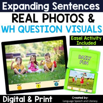 Pronouns, Verbs, Simple Sentences & Questions 4, Summer, No Print, Teletherapy