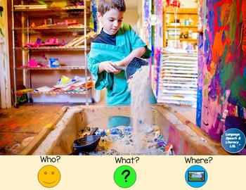 Pronouns, Verbs, Simple Sentences, & Wh Questions 5, No Print Teletherapy