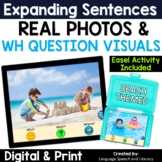 No Print Speech Therapy Expanding Sentences | Real Photos