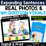 No Print Speech Therapy Expanding Sentences | Real Photos | Story Starters