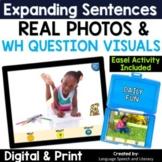 Pronouns, Verbs, Simple Sentences & Wh Questions 3 - No Print - Teletherapy