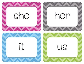 Pronouns Word Wall Cards