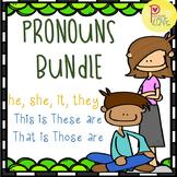 Pronouns Worksheet Bundle