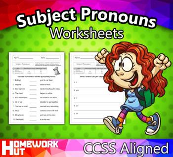 Subject Pronouns Worksheets