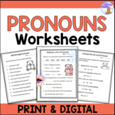 Pronouns Worksheets (Distance Learning)