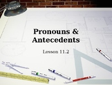 Pronouns and Antecedents Interactive Powerpoint Lesson
