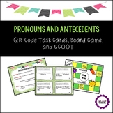 Pronouns and Antecedents Task Cards, Board Game & SCOOT
