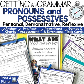 Pronouns and Possessive Noun Activities