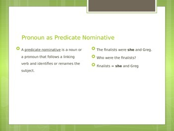 Pronouns as Predicate Nominatives - Identification Tips & Tricks
