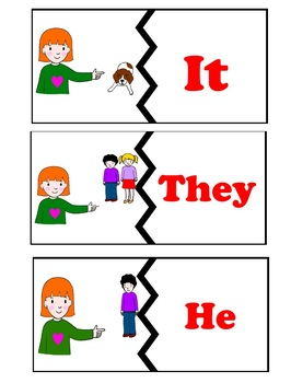 Match personal pronouns