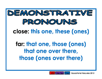 Pronouns blue