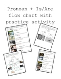 Pronouns flow chart + is/are flow chart and practice activities