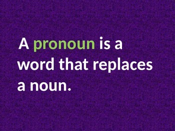 Pronouns for Beginners Powerpoint