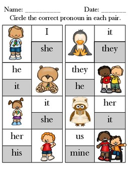Pronouns for Elementary Students