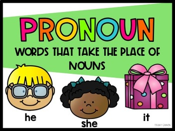 Pronouns for Primary Grades {A No-Prep Mini-Pack}