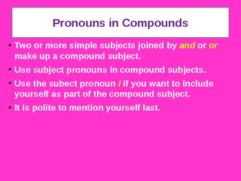 Pronouns in Compounds for Visual Learners