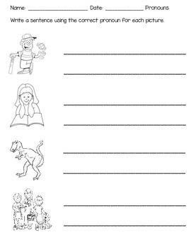 Pronouns in Kindergarten