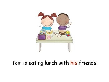 Pronouns lunch book