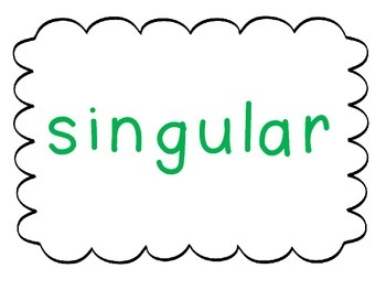 Pronouns singular and plural- 2 Corners and Task Cards It's a DUO!