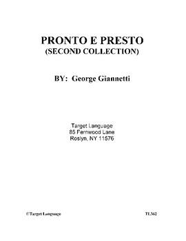 Pronto e Presto-Second Collection