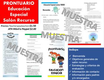 Prontuario Educación Especial_opúsculo SRecurso