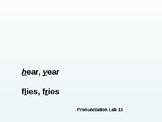 Pronunciation Lab #13