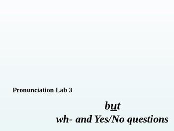 Pronunciation Lab #3