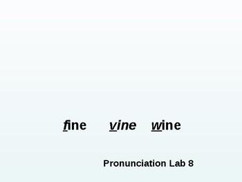 Pronunciation Lab#8